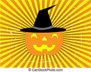 Jack-O-Lantern Halloween Vector Background