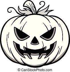 Jack-O-Lantern Illustration - A cartoon illustration of a ...