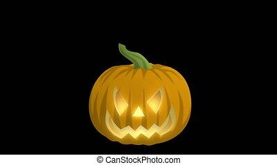 Jack O Lantern On Black - This Jack-O-Lantern is perfect of...