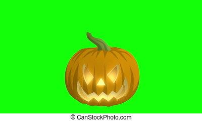 Jack O Lantern On Green - This Jack-O-Lantern is perfect of...