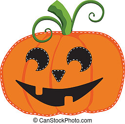 jack o lantern or carved pumpkin on a transparent background, vector format
