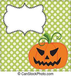 Jack o lantern or carved pumpkin