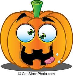 Jack o Lantern Pumpkin Face - 9 - A Vector Illustration of a...
