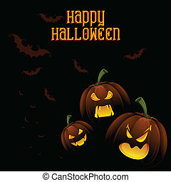 Jack-o-lantern Pumpkin in Halloween night