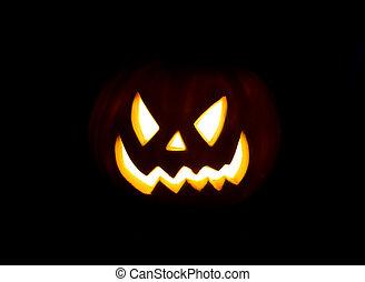 Jack-o-lantern isolated on a black background