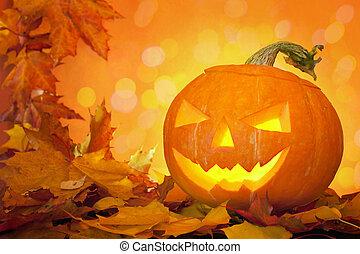 Jack O' Lantern - A jack O' Lantern. pumpkin carved for...