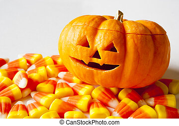 Jack-o-lantern with Candy Corn