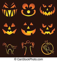 Jack O Lanterns - Nine Glowing Jack O Lantern Designs