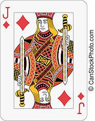 Jack of diamond playing card