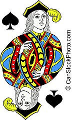 Jack of Spades Isolated French Version - Jack of spades ...