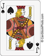 Jack of Spades - Jack of spades playing card (decorations in...