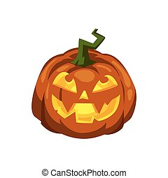Jack o'Lantern on a white background