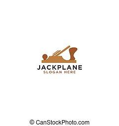 Jack plane logo design template