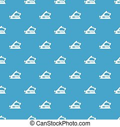 Jack plane pattern seamless blue