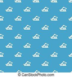 Jack plane pattern seamless blue