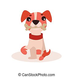 Jack russell terrier character, cute funny dog vector Illustration