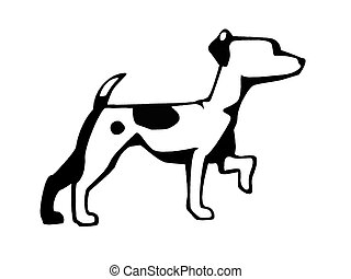 Jack Russell Terrier - Ink drawing of a Jack Russell Terrier