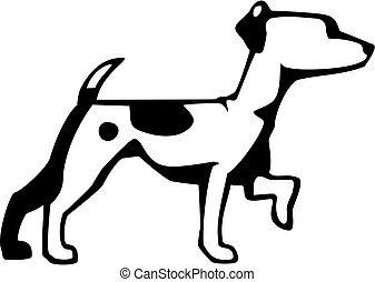 vector drawing of a jack russell terrier
