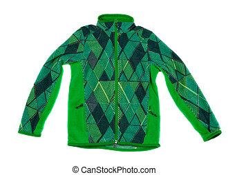 jacka, ull, grön