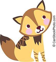 JackalCute - A vector illustration of cute friendly charming...