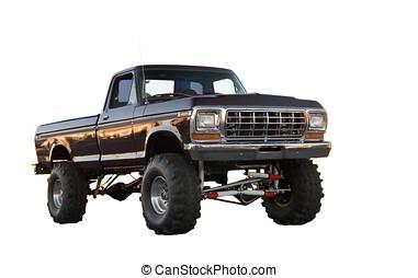 Ford Ranger 4x4 - Jacked up Ford Ranger 4x4 truck.