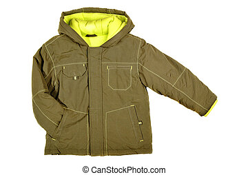 Jacket - Children's wear - jacket isolated over white...