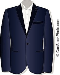 jacket., collection., vector., kläder