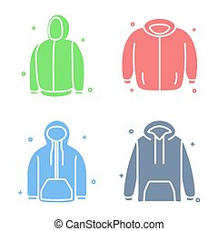 Jacket Hoodie Fashion Vector Icon