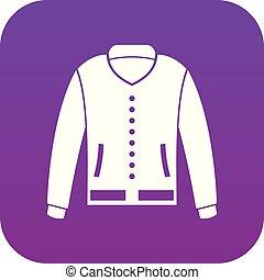 Jacket icon digital purple