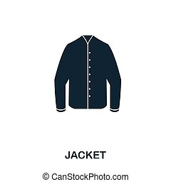 Jacket icon. Flat style icon design. UI. Illustration of jacket icon. Pictogram isolated on white. Ready to use in web design, apps, software, print.