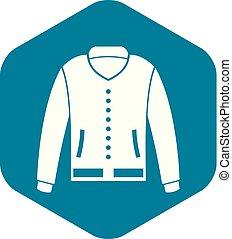 Jacket icon, simple style