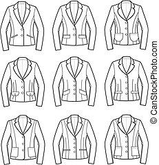 Jacket - Vector illustration of women's jackets