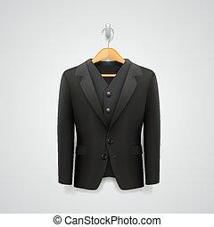 jacket on a hanger. vector illustration