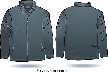 Jacket or sweat shirt template front and back