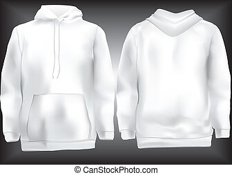 Jacket or sweatshirt or hoodie template front and back