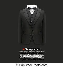 Jacket over a black background