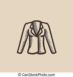 Jacket sketch icon.