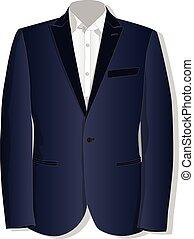 jacket., vector., vêtements, collection.