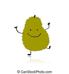 Jackfruit, funny character for your design. Vector ...