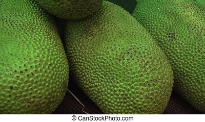 Jackfruit sold in supermarket stock footage video -...