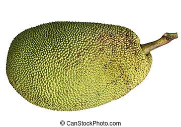 Jackfruit - Ripe Jackfruit Jack Fruit isolated on white...