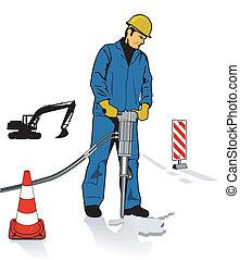 jackhammers, arbejdere