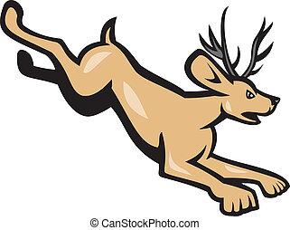 Jacklope Jumping Side Cartoon
