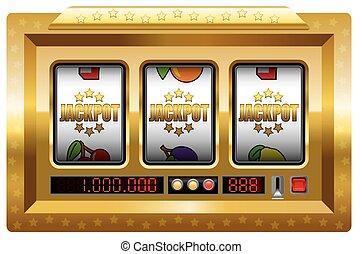 jackpot, automat, gold