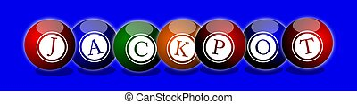 Jackpot Balls - big win -illustratiion