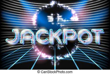 Jackpot casino neon lettering