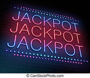 Jackpot concept. - Illustration depicting an illuminated...