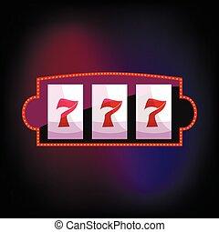 Jackpot icon in cartoon style