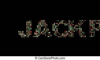 jackpot, leuchtdiode, text