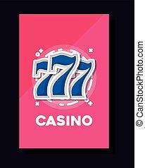 jackpot machine poster frame gamble casino